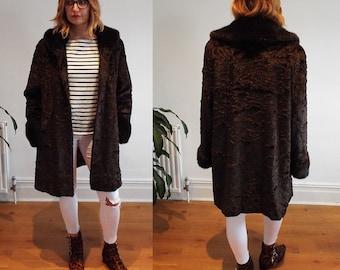 Italian Faux Fur Coat - size UK 12