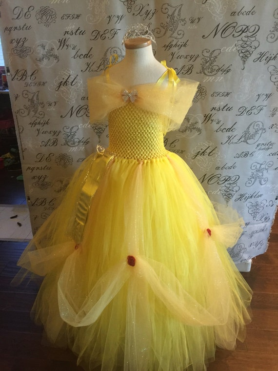 Souvent BELLE Princess YELLOW LINED igh Quality Super Soft Tulle Tutu WH95
