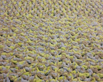 Chunky Crocheted Baby Blanket