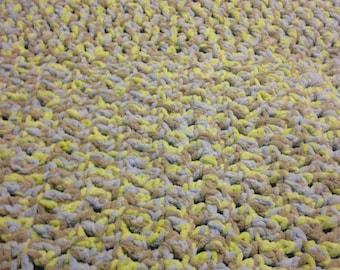 Chunky Crocheted Baby Blanket