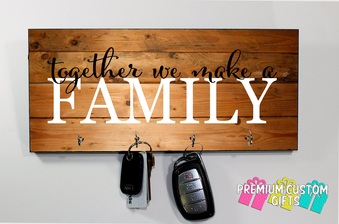 Wall Key Holder Together We Make A Family Key Hanger Personalized Wall Key