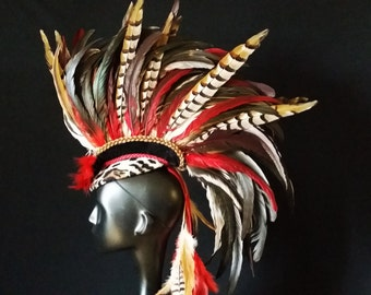 Heart Of The Leopard men's Feather Mohawk