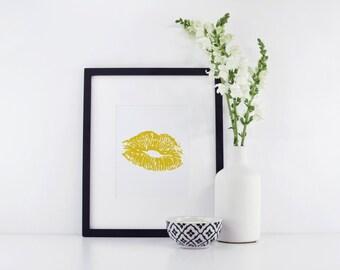 Lips Print - Makeup Print - Makeup Art