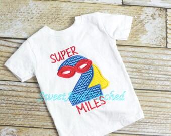 Superhero Birthday shirt - first (1st, 2nd, 3rd, 4th, 5th, 6th) birthday superhero shirt - boys superhero birthday shirt