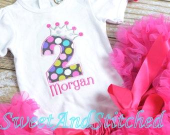 Pink polka dot Princess birthday outfit  - Pink Princess birthday shirt! 1st, 2nd, 3rd, 4th, 5th, etc birthday shirt or birthday outfit!
