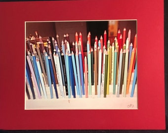 Colored pencils photo