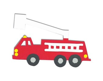 Fire Truck Foamies Craft Kit (Easy To Make, Just Add Glue)
