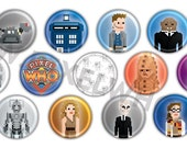"Single Buttons & Small Collections - PixelWho 1"" Pinback Buttons/Badges (8bit)"
