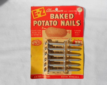 Vintage Aluminum Baked Potato Nails