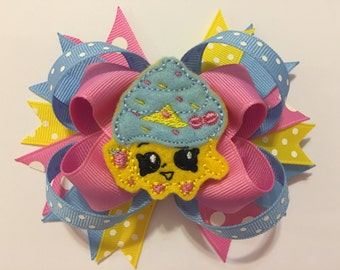 Queenie Cupcake Loopy Hairbow