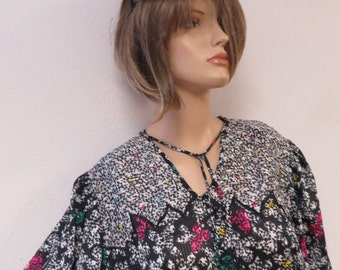 80's Crop Top Blouse Retro Womens Clothes