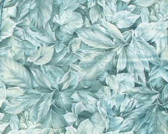 Leaf Fabric, Floral, Garden, Greens, Nature