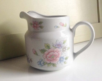 Vintage FTD Especially for You Floral Pitcher, Flora Vase, FTD Collectible, 1980s FTD Collectible