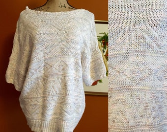 FLASHSALE!!!!Pastel Knitted Sweater Off the shoulder sweater Short Sleeve Sweater Oversized Sweater Stretchy Comfy Sweater