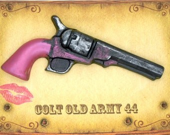 Colt Old Army 44 With PinK Highlights Soap, Favor, Western Theme