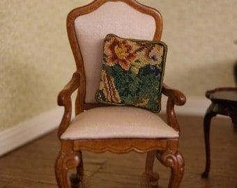SALE! Dollhouse Miniature Petit Point Pillow