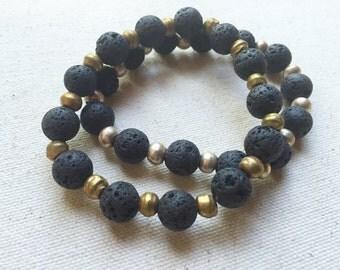Essential Oil Jewelry, Aromatherapy Jewelry, LAVA bracelet, Yoga Bracelet