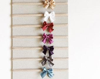 Baby Bows, Bows, Baby Headbands, Nylon Headbands, No Slip, Satin Bows, Fabric Bows, Handmade, Handmade Bows, Baby Accessories, Satin