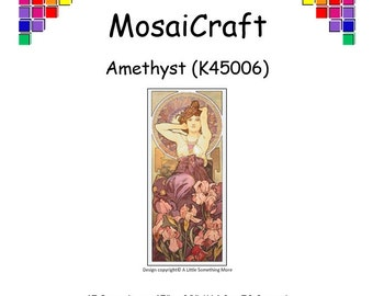MosaiCraft Pixel Craft Mosaic Art Kit 'Amethyst' (Like Mini Mosaic and Paint by Numbers)