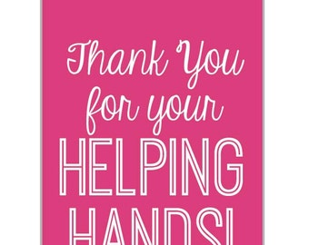 Mary Kay Printable Tags: Helping Hands