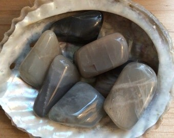 Black Moonstone Medium Healing Stone, Healing Crystal, Spiritual Stone, Meditation, Tumbled stone, Chakra Stone