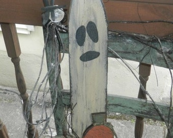 Halloween hanging ghost pumpkin Primitive FAll Sign