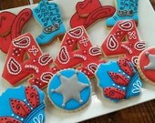 Western Theme Birthday Cookies