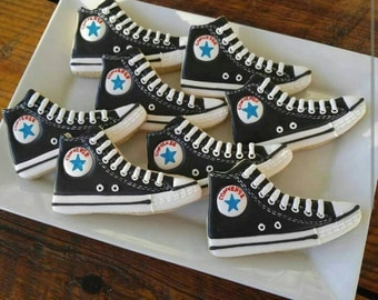 Converse Decorated Sugar Cookies