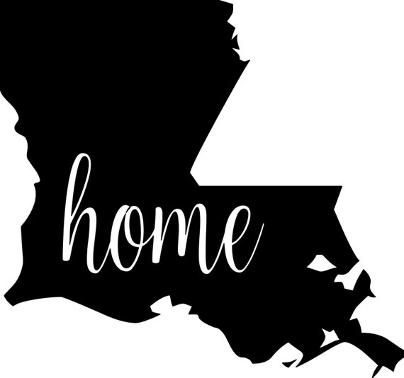 Louisiana State Vinyl Decal Sticker 6 Quot X 5 Quot Home La Tigers