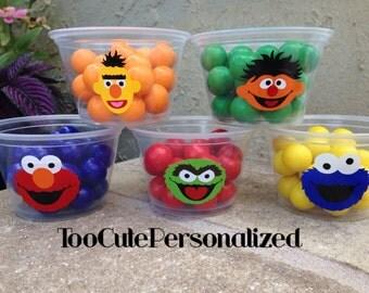 25 Plastic Sesame Street Snack Cups-4 oz.