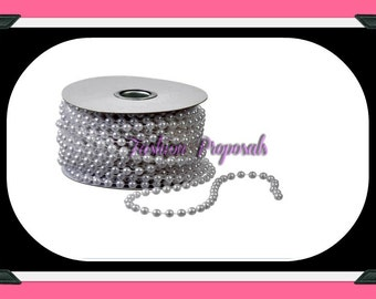 Pearl 1 rolls 6MM 12Yds 36ft Pearl roll, pearl spool, Pearl DIY for centerpieces, backdrops, cake decor