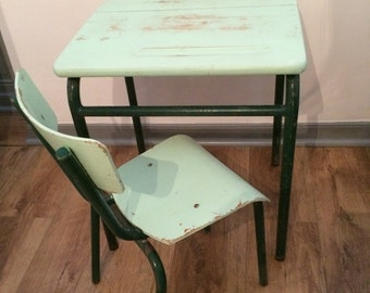 Childs Chair And Desk Vintage 1960's-70's