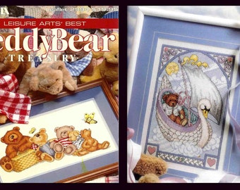 Whole Book TEDDY BEAR TREASURY Cross Stitch Charts 144 Pages