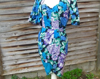 Vintage sarong dress with matching bolero
