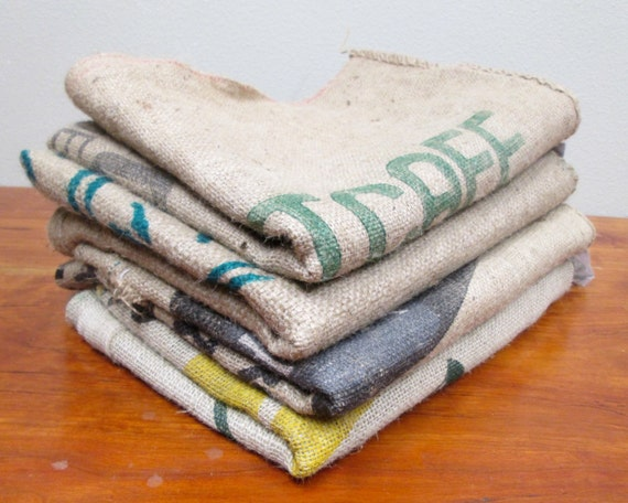 burlap coffee bags 4 burlap coffee sacks coffee bags by