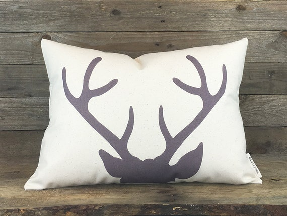 Modern Deer Pillow Housewarming Gift Rustic by FinchandCotter