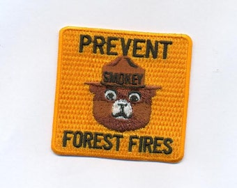 Smokey the bear embroidered patch