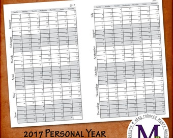 2017 Filofax Personal Year at a Glance on Two Pages