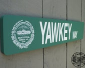 "22"" Painted Wooden Boston Street Sign Handmade Yawkey Way"