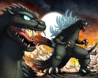 Nightmare Godzilla 2000 2-Piece Print (2 11x17 Prints)