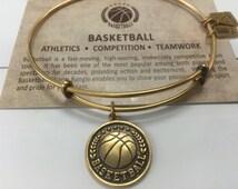 Basketball brass expandable charm bracelet