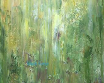 "Modern painting ""Spring"" Digital File JPG/Abstract art/Digital file/File to download/Printable Art/to print/"