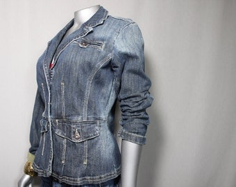 Simple Comfortable  Womens Girls Jean Jacket Summer Spring Fall Coat