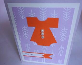 It's a girl! handmade baby card