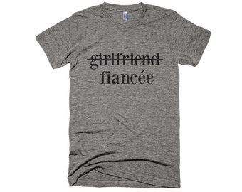 Fiancee Shirt-Engagement Shirt- girlfriend shirt- Graphic Shirt-Typography Shirt-Women Gift