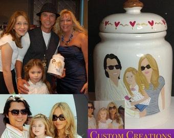 Custom Painted Cookie Jar