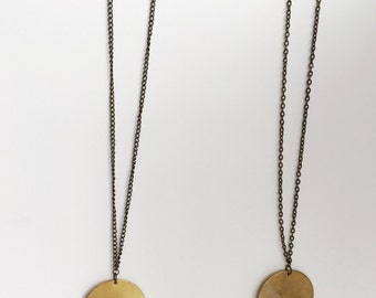 Asymmetrical Circle Necklace