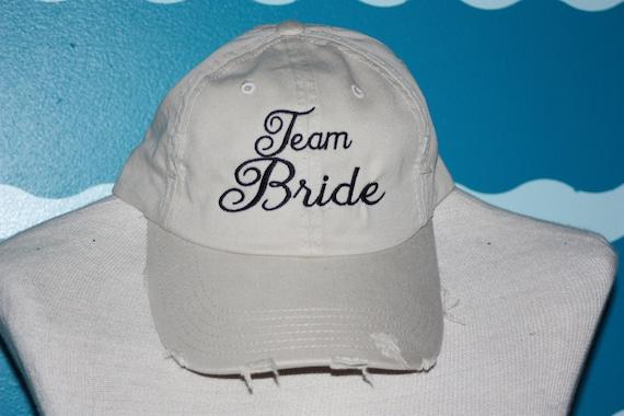 Team Bride Baseball cap - wedding party baseball hat - embroidery baseball cap - wedding shower gift - team bride - Bachelorette  party
