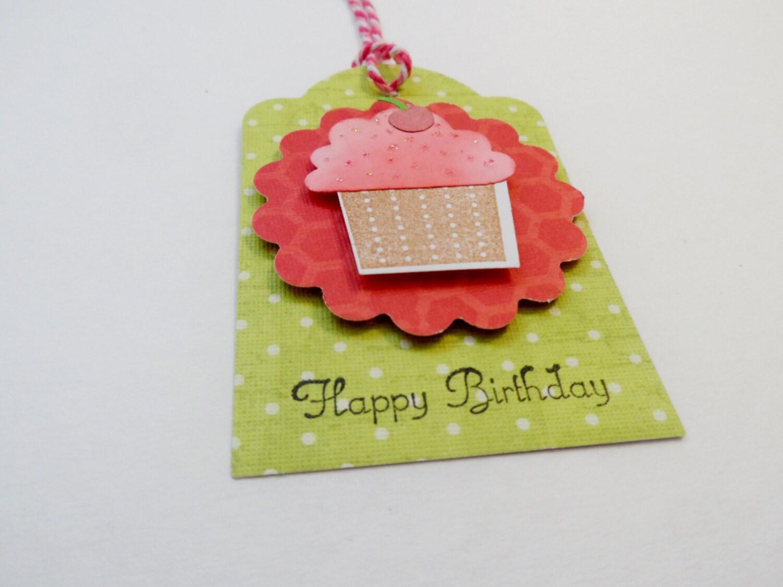 Birthday Tags: Happy Birthday Tags Birthday Tag Cupcake Tag Gift Tag