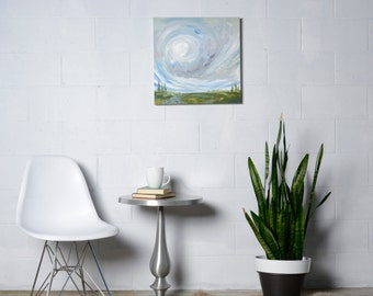Abstract Landscape Painting on Canvas, Landscape